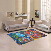 JC-Dress Area Rug Cover Colourful Octopus Modern Carpet Cover 1.5mx1.2m