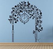 Wall Vinyl Sticker Decals Mural Room Design Decor Art Arch Flowers Clock Nursery Kids Bedroom Decor bo2556