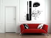 Wall Vinyl Sticker Decals Mural Room Design Decor Art Makeup Cosmetics Mascara Eyelashes Beauty Salon bo2539