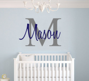Custom Name & Initial - Premium Series - Baby Boy - Wall Decal Nursery For Home Bedroom Children (M511)