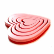 Red Wooden Art heart-shaped 3D Wall Stickers DIY Home Wall Room Decals Decor Sofa TV Setting Wall Removable Wall Stickers