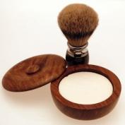 Diamond Edge Silvertip badger shaving brush & shaving bowl