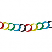 Partyrama Red Yellow Green Blue Black Paper Chains 20 Cms - Pack Of 100