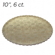 25cm Gold Scalloped Edge Cake Boards, 6 ct