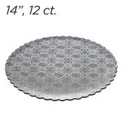 36cm Silver Scalloped Edge Cake Boards, 12 ct