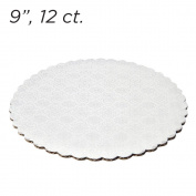 23cm White Scalloped Edge Cake Boards, 12 ct