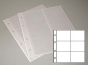 5 Prophila coin sheets, 6 pockets up to 64 mm Ø