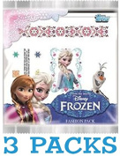 3 X DISNEY FROZEN ~ FASHION PACK ~ 2 SHEETS PER PACK ~ TATTOOS, NAIL ART, GLITTER BRACELET, FACE DECORATIONS PLUS ONE SCENTED CARD!
