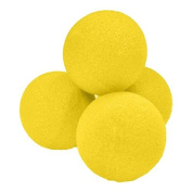 3.8cm High Density Ultra Soft Sponge Ball (Yellow) Pack of 4 from Magic by Gosh