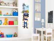 'I-love-Wandtattoo M (011) Children's Room Growth Chart Police for glueing . Write on and DIY Sticker Wall Sticker Wall Decoration Wall Sticker