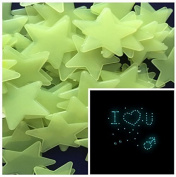 200PCS Home Wall Glow In The Dark Stars Stickers Decal Baby Kid's Nursery Room - DIY Wall Decal - Light Green - Plastic Luminous Wall Stickers Bedroom Decoration by COFCO