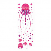 Winhappyhome Jellyfish Wall Art Stickers for Bedroom Living Room Coffee Shop Background Removable Decor Decals