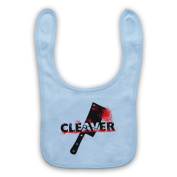 Inspired by Sopranos Cleaver Film Unofficial Baby Bib, Sky Blue