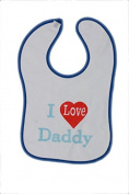 New Born baby Bibs - I love Daddy In Sky Blue Colour