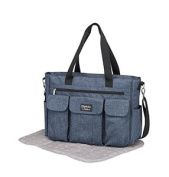 pirulos 48131943 - Bag, Design Denim, 50 x 35 x 13 cm, Colour Azulon