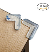 Soft, Baby Safety Edge & Corner Guards with High Strength Adhesive, L shaped -