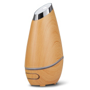 Brilliant Beauty SmartMist Aromatherapy Diffuser for Essential Oils – Utilising Ultrasonic Technology & Modern, Wood Grain Finish with Ambient Light