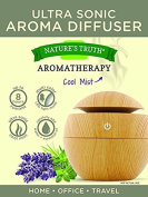 Nature's Truth Aromatherapy Cool Mist Ultra Sonic Aroma Diffuser, Wooden Veneer Design, 1 Per Pack