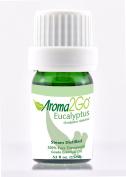 Aroma2Go | Eucalyptus | Premium 100% Pure Therapeutic Grade Undiluted Natural Essential Oil 15 ml | Air Cleanser Respitory Aid