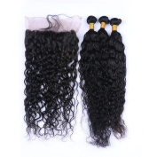Tony Beauty Hair Malaysian Human Hair 3 Bundles With 360 Band Lace Frontal Pre Plucked Deep Curly Wave 360 Full Lace Frontal With Weaves Extensions 4Pcs Lot