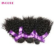 iVogue Hair Virgin Monglian Kinky Curly Virgin Hair Bundles Virgin Human Hair Extensions Natural Colour (100+/-5g)/pc 3pcs/Lot Remy Hair Weaves