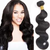 9A Grade 100% Unprocessed 3 Bundles Brazilian Virgin Human Hair Extension Hair Weave Body Wave Hair Bundles Natural Colour 100g/Bundle
