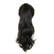 Jackcsale 20inch 50cm Long Curly Claw Jaw Clip In Ponytail Wig Hair Extension Hairpiece 4#