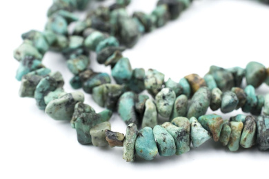 African Turquoise Chip Beads (Long Strand) - Full Strand of Stone Beads - The Bead Chest