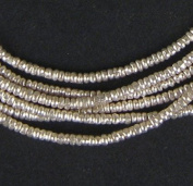 Silver Heishi Beads - Full Strand Ethiopian Metal Spacers for Jewellery Making - The Bead Chest