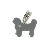 Universal Bichon Frise with Heart Cut Out Charm