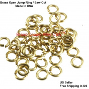 16 ga Solid Yellow Brass Open Jump Ring 7 MM O/D ( 30ml = Pack Of 170