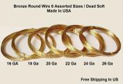 Assorted Sizes Bronze Round Wire (26-24-22-20-18-16 Ga 3m Each
