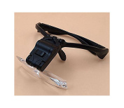 LED Light Headband Head Glasses Magnifier Reading Antiques Jewellery Stamp Repair Tools 4 Lenses