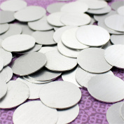 100 Pack - CleverDelights 2.5cm Round Stamping Blanks - 20 Gauge (.80cm ) Aluminium - Circle Discs Tags