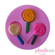 Pinkie Tm 3 Hole Lollipop Fondant Cake Silicone Mould Chocolate Clay Resin Mould Sugarcraft Cake Decorating Tools
