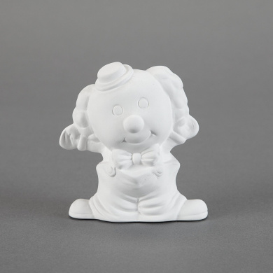 Duncan 31814 Small 10cm Tiny Tot Curly, Case of 6 Pieces, Unfinished Ceramic Bisque, With How To Paint Your Own Pottery Booklet