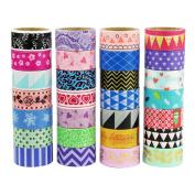UOOOM Multi-pattern Decorative Washi Tape Masking Tape Adhesive Scrapbooking DIY Craft Gift