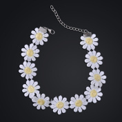 Girl Sweet White Lolita Lace Choker Daisy Flower Yellow Collar Necklace Jewellery
