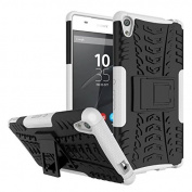 Sony Xperia XA Ultra Case,ARSUE [Premium Rugged] Heavy Duty Armour [Shock Resistant] Dual Layer with Kickstand Case for Sony Xperia C6 / XA Ultra / C6 Ultra Smartphone - White