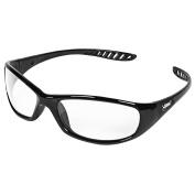Jackson Safety V40 Hellraiser Safety Glasses (28615), Clear Anti-Fog Lens with Black Frame, 12 Pairs / Case