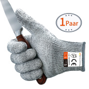 MYCARBON Cut Resistant Gloves Kitchen Gloves Level 5 Hand Protection Work Gloves Safety Gloves with Food Grade