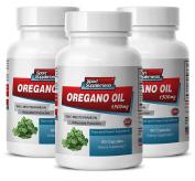 Anti fungal supplements - OREGANO OIL (WILD MEDITERRANEAN) EXTRACT 1500 - Oregano powder - 3 Bottles 180 Capsules