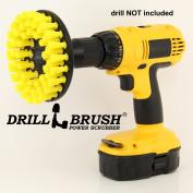 Yellow Drill Brush Carpet Brush with Medium Stiffness Bristles by Drillbrush