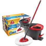O-Cedar Microfiber EasyWring Spin Mop & Bucket System, 3 pc