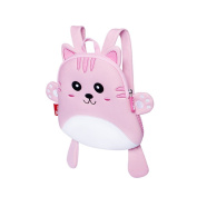 BINGONE Mini Cartoon Backpack for Kids Nursery Pre-school Bag Travel Outdoor Pink Kitty