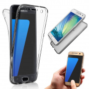 Galaxy Trend 2 Case,Galaxy Trend 2 TPU Case,Vandot Shockproof Cover Drop Protection Soft TPU Silicone Slim Fit Anti-Scratch Front and Back Full Body 360 Degree Protective Case for Samsung Galaxy Trend 2 (G313H)-Transparent Black