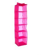 Compactor PEVA 6 Levels Clothes Rack, Bright Pink