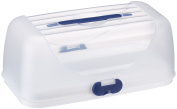Emsa 503940 Superline cake keeper/party box, 35 x 18 cm, white/blue