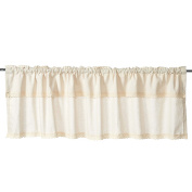 Charming Cotton Linen Lace Window Treatment Valances for Kitchen Bath Bedroom Living Room Home Decor 140cm x 41cm