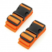 Luggage Straps Suitcase Travel Packing Belt Accessories, 2-Pack, Orange